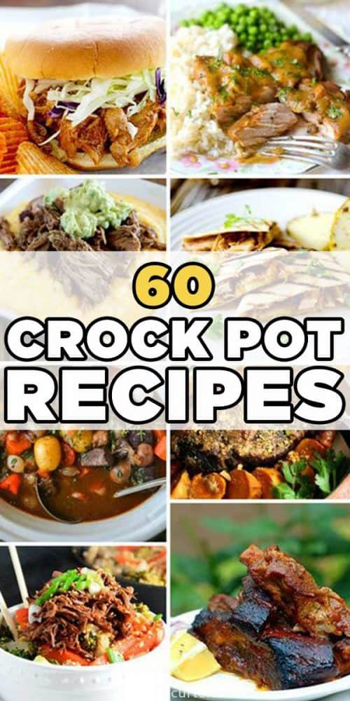 Easy Crock Pot Recipes - Chicken, Beef and Vegetable Slow Cooker recipes for dinner.