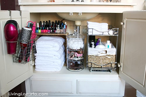 Bathroom Cabinets Organizing Ideas quick bathroom organization ideas | before and after photos
