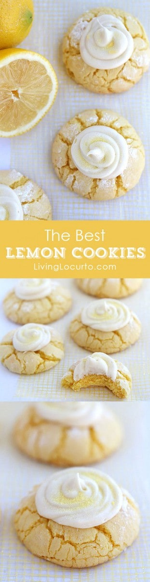 THE BEST Melt in your mouth Lemon Cookies Recipe with Lemon Frosting. Easy cake mix cookies. Livinglocurto.com