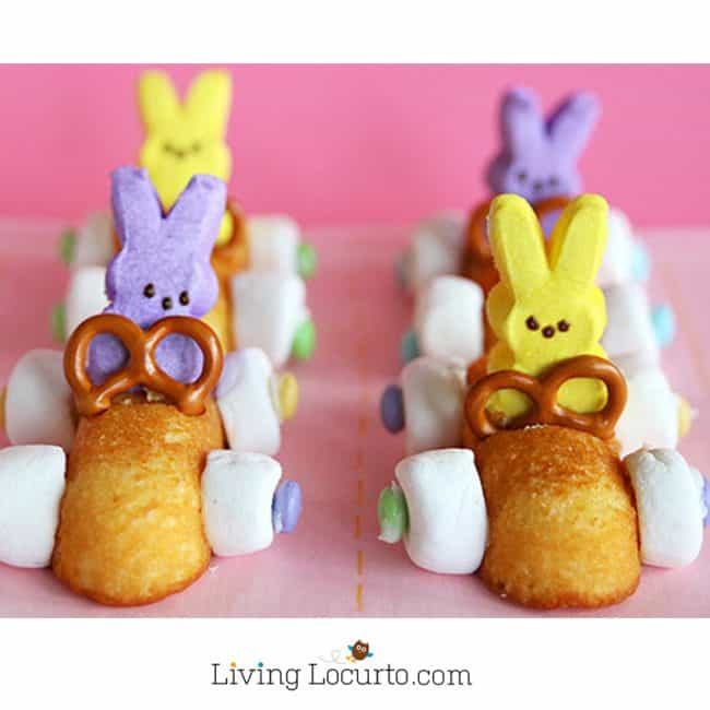Easter Bunny Race Car Treats With Peeps
