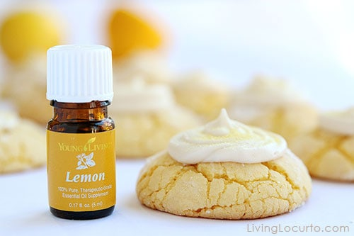 Lemon Crinkle Cookies with Lemon Essential Oil
