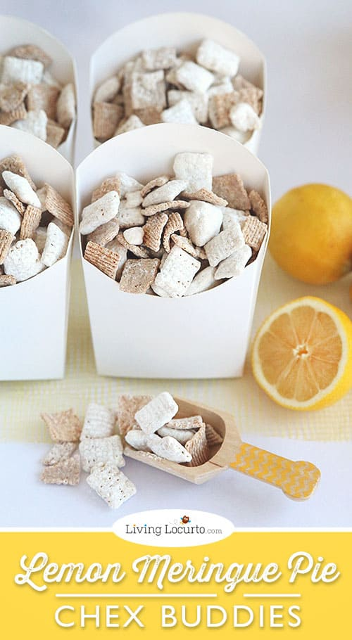 Lemon Meringue Pie Chex Party Mix Recipe. The best Chex Buddies ever! LivingLocurto.com