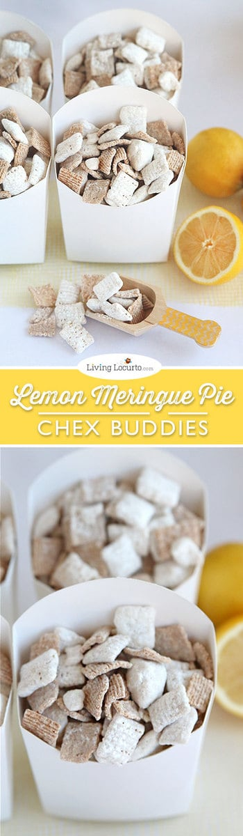 This Lemon Meringue Pie Chex Party Mix recipe is the best Chex Buddies ever!