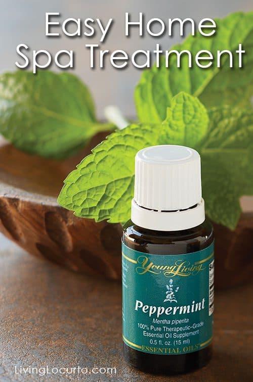 Peppermint Essential Oil Home Spa Treatment Ideas. LivingLocurto.com
