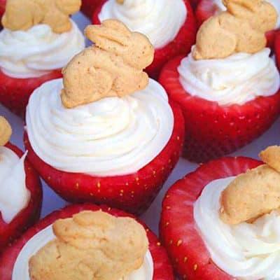 Bunny Cheesecake Strawberries
