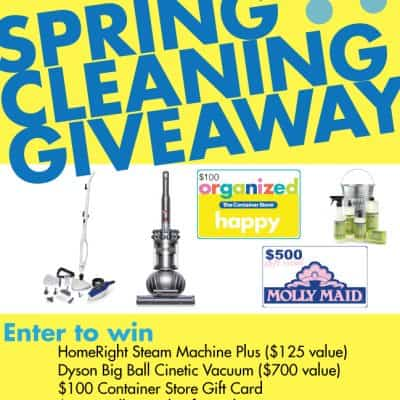 Awesome Spring Cleaning Giveaway ($1500 Value)