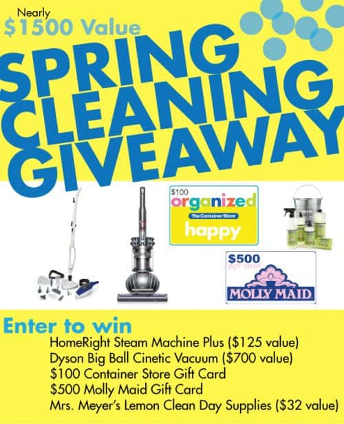 Awesome Spring Cleaning Giveaway! LivingLocurto.com