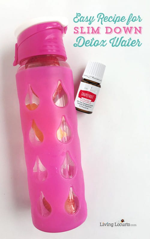 Slim Down Detox Water Recipe. Easy to make with Essential Oils and healthy for you! LivingLocurto.com