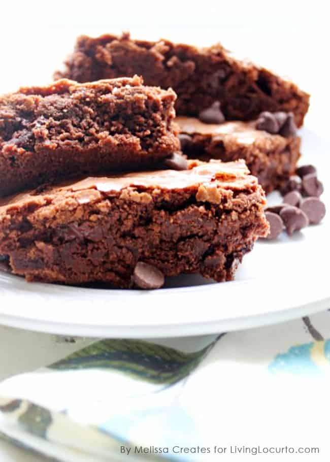 Double Chocolate Brownies. Simple Homemade Double Chocolate Chip ...