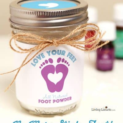 Homemade Foot Powder with Essential Oils