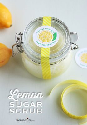 Homemade Lemon Sugar Scrub | Mother's Day Free Printables