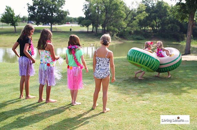 Disney frozen summer birthday party ideas luau party for Party entertainment ideas adults