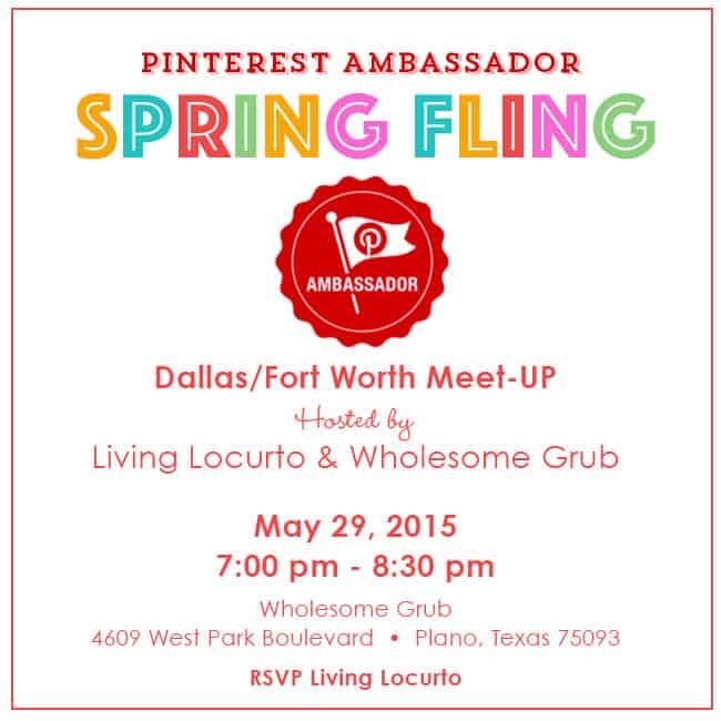 Pinterest Ambassador Spring Fling! Dallas Fort Worth Meet-Up with Living Locurto. RSVP at LivingLocurto.com