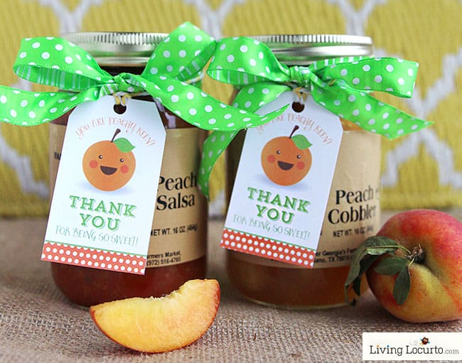 You Are Peachy Keen Free Printable Thank You Gift Tags