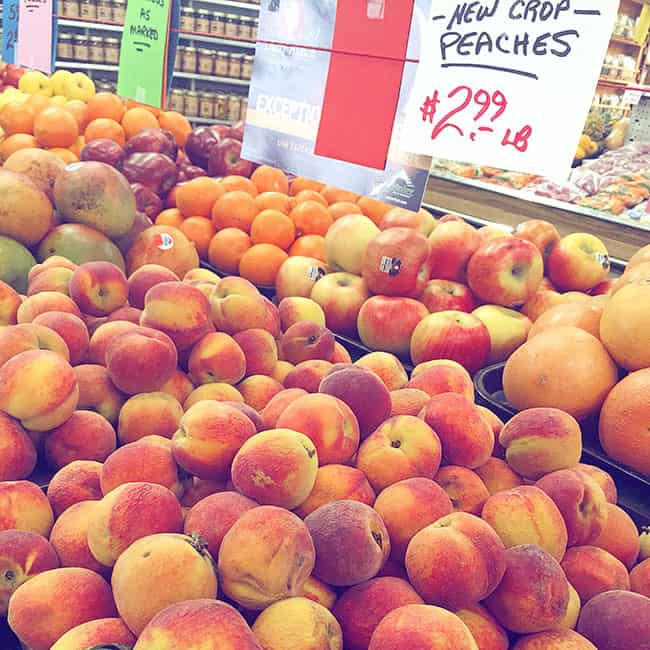 Farmers Market Peaches - By Living Locurto via Instagram