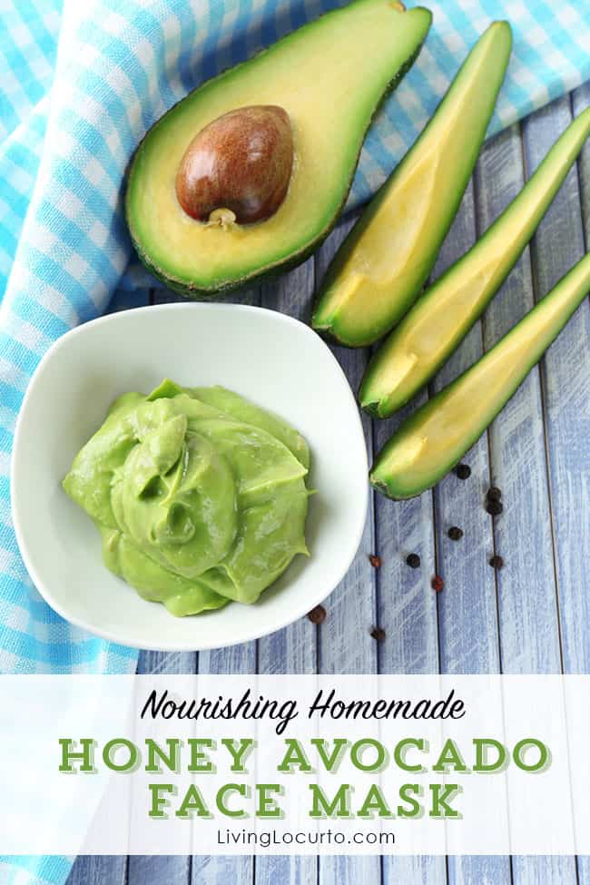 Nourish and brighten your skin with this easy DIY Honey Avocado Face Mask recipe. LivingLocurto.com