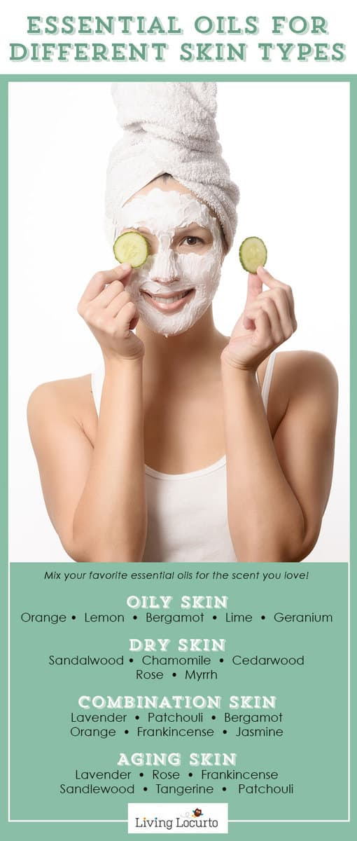 Best Essential Oils for Skin and Face. Look younger and get rid of blemishes with these easy homemade skin care face mask recipes at LivingLocurto.com