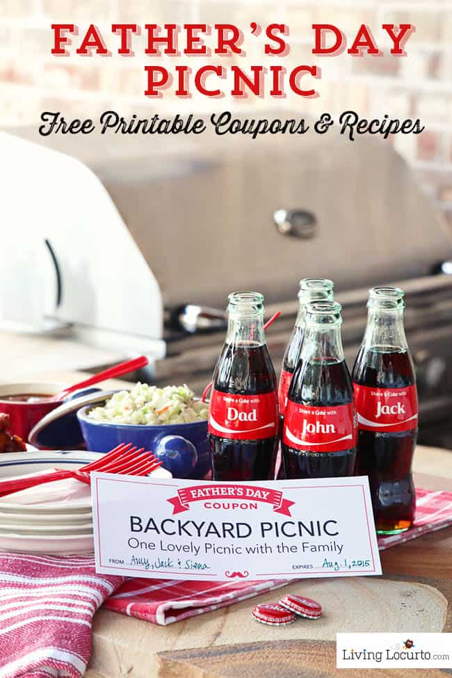 Fathers Day Picnic Ideas. BBQ Coca-Cola Chicken Wings Recipe, Coke Float Ice Cream Popsicles & Free Printable Coupons. Share a Coke! #ShareaCokeSweepstakes