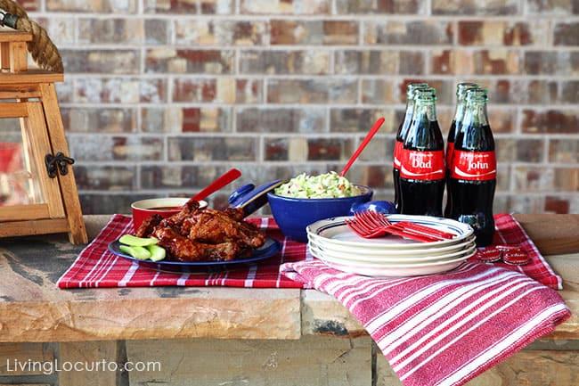 Fun Picnic Ideas. BBQ Coca-Cola Chicken Wings Recipe & Free Printable Coupons. Share a Coke! LivingLocurto.com #ShareaCoke #ShareACokeSweepstakes