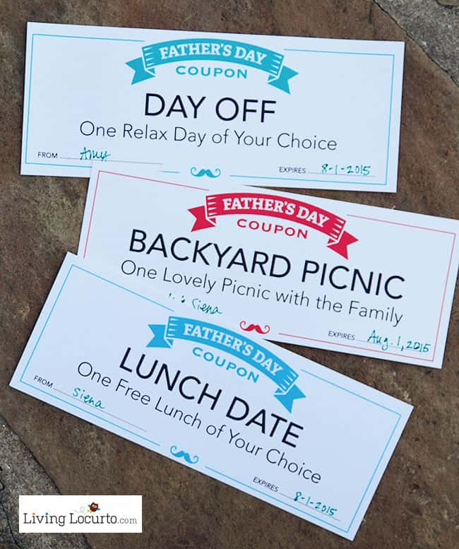 Free Printable Fathers Day Coupons! LivingLocurto.com