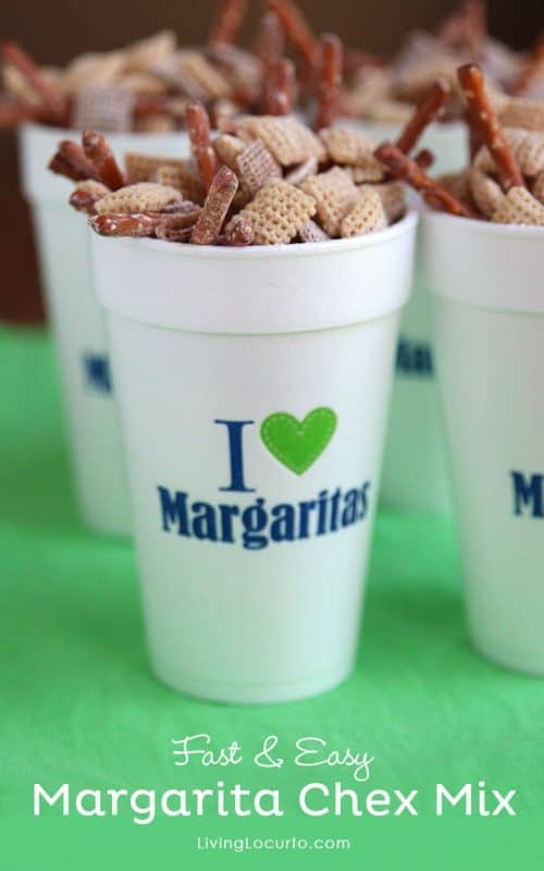 Fast and Easy Margarita Chex Mix. The perfect party recipe! LivingLocurto.com