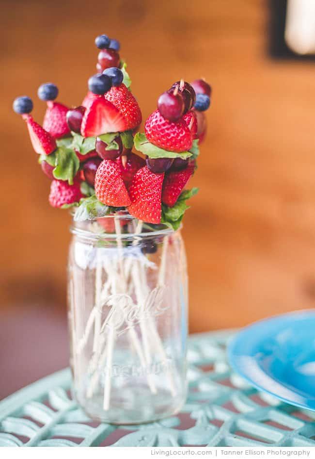 Pinterest Ambassador Dallas Spring Fling Meet-Up Party with Living Locurto. Edible Fruit Flower Kabobs. LivingLocurto.com
