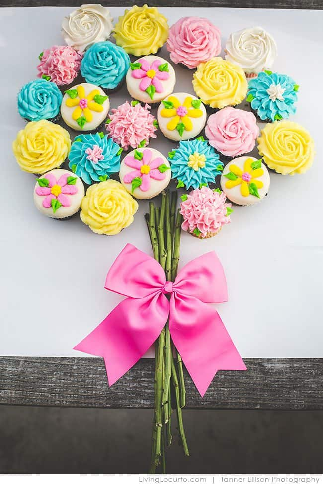 Best Cupcake Cakes Recipe. Flower cupcakes are a perfect dessert recipe for any occasion.