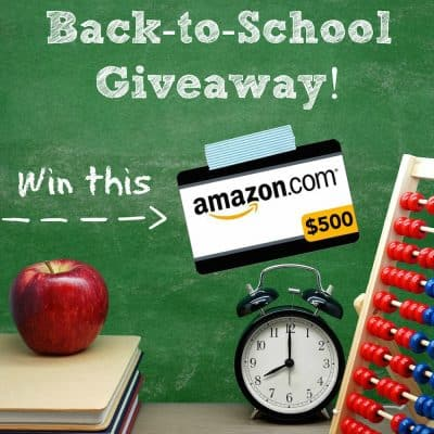 Back to School Giveaway ($500 Value!)