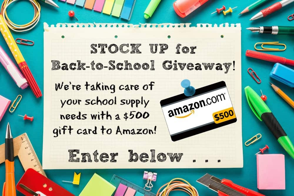 Amazing Back to School Giveaway! Enter to win an Amazon gift card. LivingLocurto.com