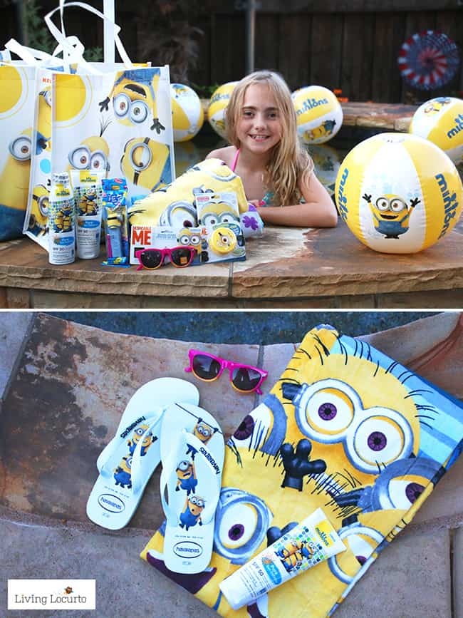 Cute Minions Party Favors! Fun DIY ideas for a Minions Party or Despicable Me Minion Themed Birthday Party. Easy kids activity. LivingLocurto.com