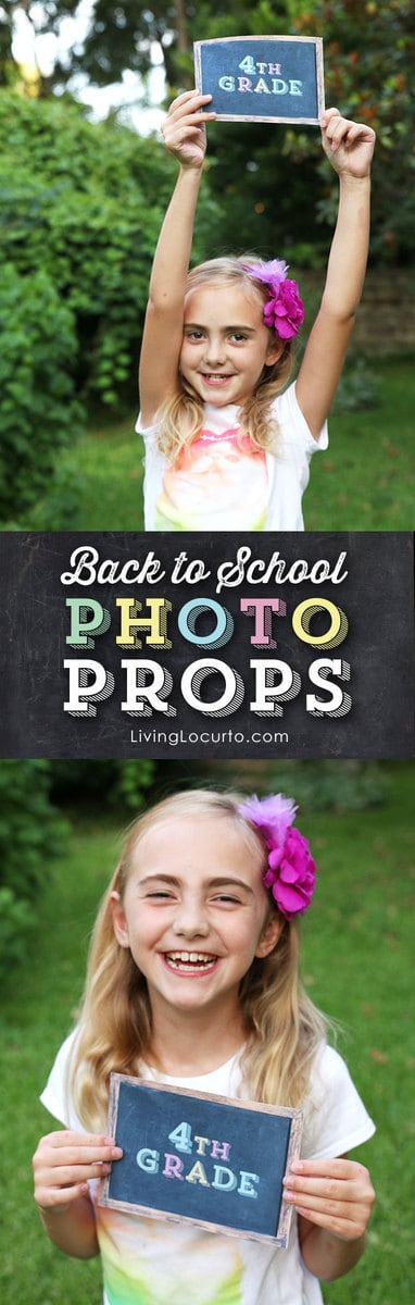Cute Back to School Printable Chalkboard Photo Prop Signs by @LivingLocurto