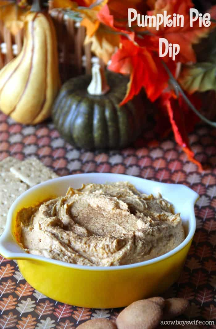Fall Party - Pumpkin Pie Dip Recipe