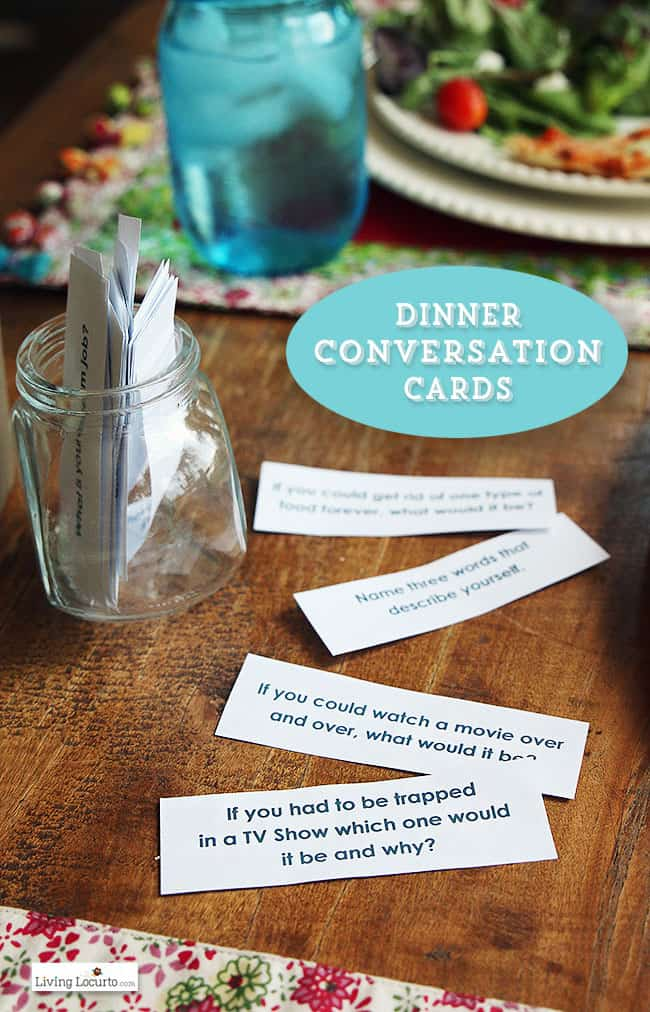 Free Printable Dinner Conversation Starter Cards