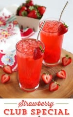Strawberry Club Special Cocktail. Great Party Drink Recipe! by LivingLocurto.com