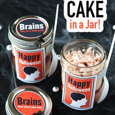 Brains Cake in a Jar – Halloween Recipe (Video)