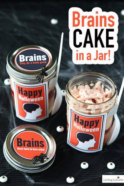 Brain Cupcakes In a Jar Recipe | Halloween Party Food