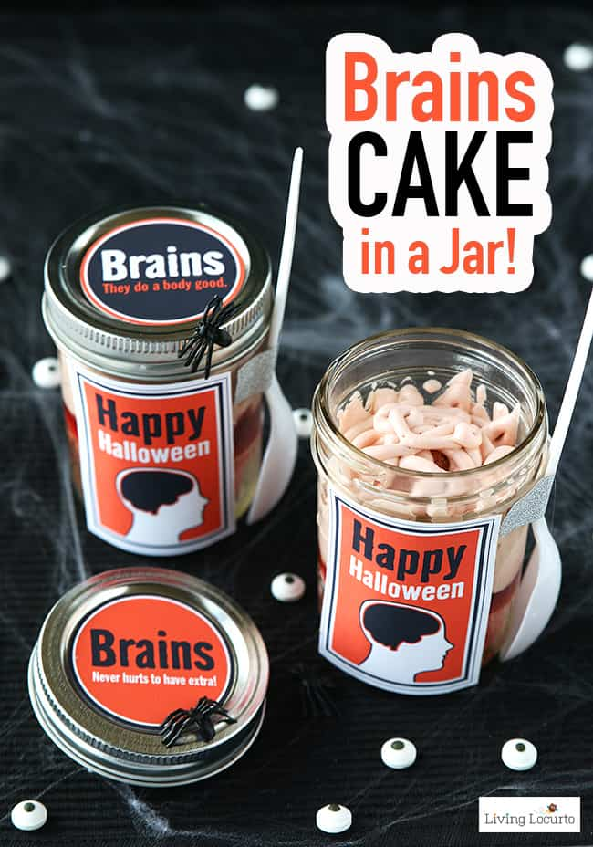 Brain Cupcakes In A Jar Recipe Halloween Party Food