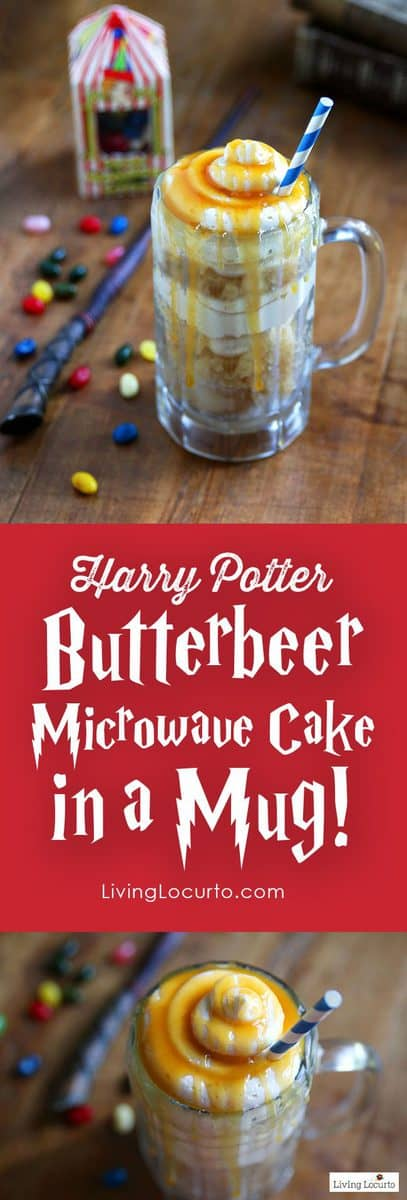 Harry Potter Butterbeer Cake in a Mug | Microwave Cake Recipe
