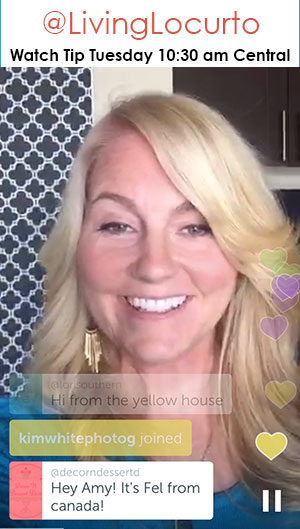 Amy Locurto - DIY Blogger from Dallas Living Locurto on Periscope