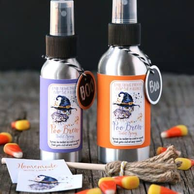 Halloween Poo Brew | Homemade Toilet Spray Printables
