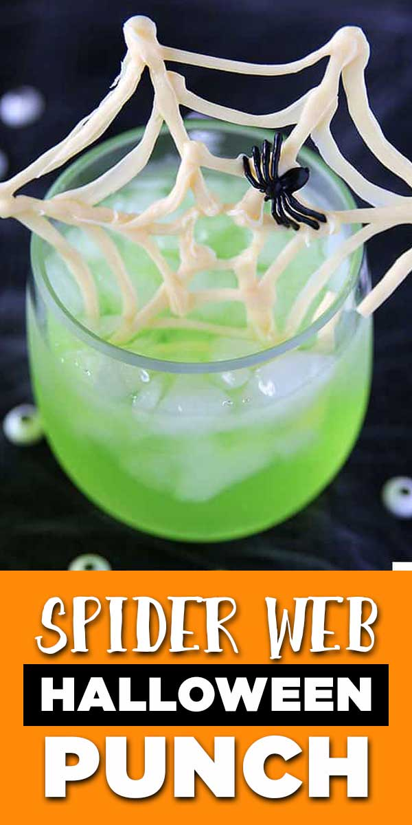 Spider Web Halloween Punch - easy party drink recipe for kids or cocktail