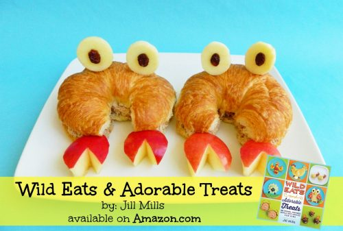 Crab Sandwiches! Wild Eats and Adorable Treats by Jill Mills is a fun recipe book packed full of easy to make Animal-inspired snacks & meals for kids.