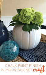 chalk painted pumpkin bucket diy craft vase pamela smerker-01-01