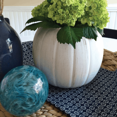 Chalk Paint Pumpkin Planter – Upcycle DIY Craft