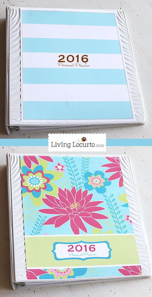Get your life organized! A Printable Daily Planner with 2016 Calendar and 7 life organizational sheets. Cleaning calendar, blog calendar, Grocery List, To-do lists and more! LivingLocurto.com