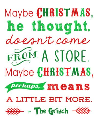 Grinch Christmas Party Ideas - Printable Wall Art