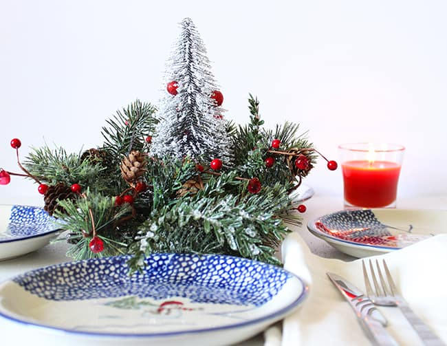 mini christmas tree centerpiece diy craft simple holiday table decor you can make in minutes