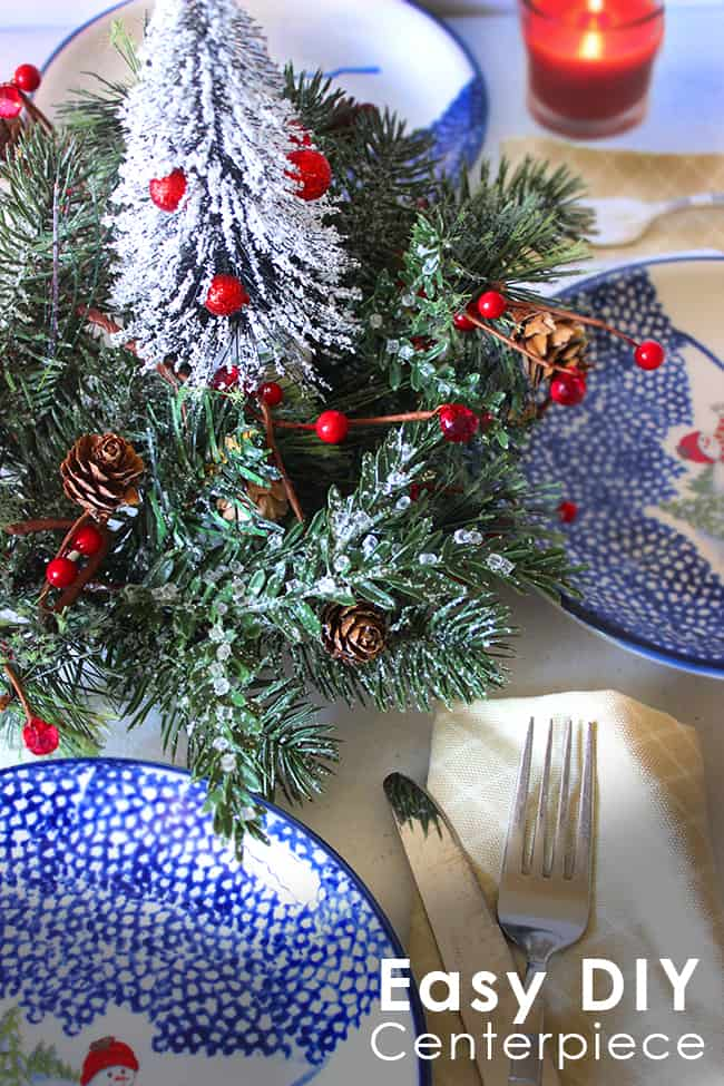 DIY Mini Christmas Tree Centerpiece