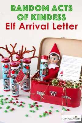Random Acts of Kindness Elf Arrival Letter