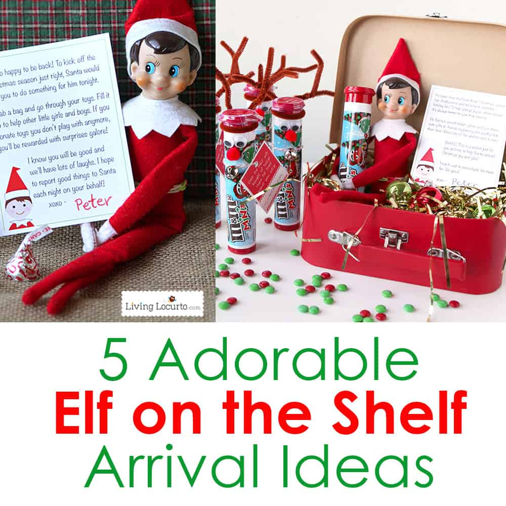 5 adorable elf on the shelf arrival ideas christmas elf printables. Black Bedroom Furniture Sets. Home Design Ideas
